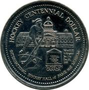 Hockey Centennial Dollar - Kingston – reverse