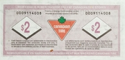 2 Dollars - Canadian Tire Coupon – reverse