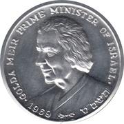 Peace Medal - Golda Meir Prime Minister of Israel – obverse