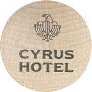Wooden Nickel - Cyrus Hotel – obverse