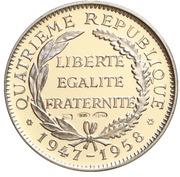 Token - Présidents de la République Française (Coty) – reverse