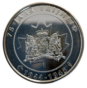 Token - 75 years of liberation by Canada – reverse