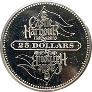 25 Dollars - Castle Harbor Club & Casino – reverse
