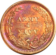 Civil War Token - Army & Navy (George B. McClelland) – reverse