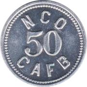 50 Cents - N.C.O. Open Mess (Charleston Air Force Base, South Carolina) – obverse