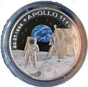 Medal - 50th Anniversary of the first Moon landing (Apollo 11, 20.07.1969) – obverse