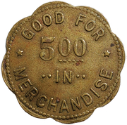 5 Dollars - Dumont Mercantile Co. (Dumont, Iowa) – reverse