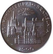 Medal - Ioannes Paulus II Visit in Czechoslovakia 1990 – reverse