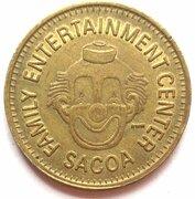 Token - Sacoa Family Entertainment Center – reverse