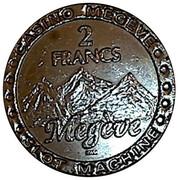 2 Francs - Casino Megeve – reverse