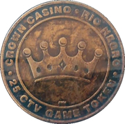 25 Centavos Game Token - Crown Casino (Río Negro) – obverse