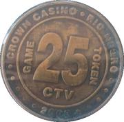 25 Centavos Game Token - Crown Casino (Río Negro) – reverse