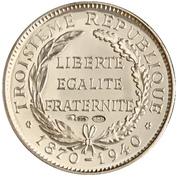 Token - Présidents de la République française (Poincaré) – reverse