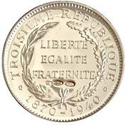 Token - Présidents de la République française (Doumer) – reverse