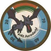 Pokémon Battle Coin (#142 Aerodactyl) – obverse