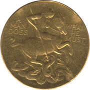 Medal - John F. Kennedy – reverse