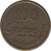 Token - Greve (jubileum penny) – obverse
