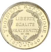 Token - Présidents de la République Française (Loubet) – reverse