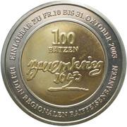100 Batzen - Bauernkrieg 1653 (Bimetallic) – reverse