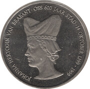 1 Ossenaar - Oss (Johanna hertogin van Brabant) – obverse