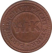 Token - 130th Anniversary of the Vienna Chamber of Commerce – reverse
