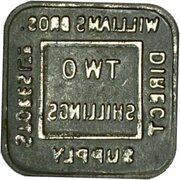 2 Shillings - William Bros. Direct Supply Stores Ltd – reverse