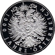 Token - 1000th Anniversary of Austria – reverse
