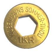 1 Krone - Kjøbenhavns Sommer-Tivoli – reverse