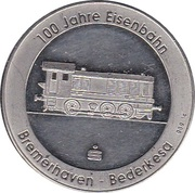Token - 100th Anniversary of Railway – reverse