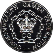 Medallion - Commonwealth Games Federation – reverse