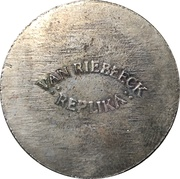 Token - Van Riebeeck Coffee replica (Silver Shilling Georgius III) – reverse