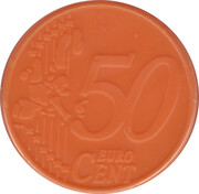 50 Cents - Shopping Cart Token (blank) – obverse