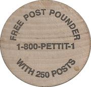Wooden Nickel - Petco – reverse