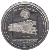 Token - 100th Anniversary of Railway – obverse