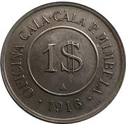 1$ Oficina Cala Cala P. Mimbela – obverse