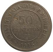 50 Centavos Oficina Cala Cala P. Mimbela – obverse