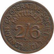 2 Shillings 6 Pence - London Co-operative Society Ltd – reverse