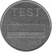 Telephone Token - Test Schlumberger (St. Petersburg ) – reverse