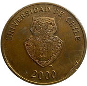 Token - Universidad de Chile 2000 – obverse