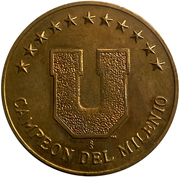Token - Universidad de Chile 2000 – reverse