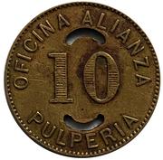 10 Centavos - Oficina Alianza – reverse