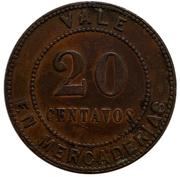 20 Centavos - A.C.N. & R Co LD. (Santa Isabel) – reverse