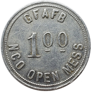 1 Dollar - GFAFB NCO Open Mess (Grand Forks, North Dakota) – reverse