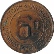 6 Pence - Letchworth, Hitchin & District – reverse