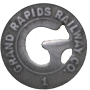 1 City Fare - Grand Rapids Railway Co. (Grand Rapids, Michigan) – reverse