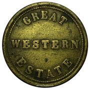 ¼ task value token - Great Western Estate – obverse