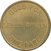 1 Senior Fare - Dayton RTA (Dayton, Ohio) – reverse