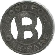1 Fare - Burbank Bus Service (Burbank, California) – reverse