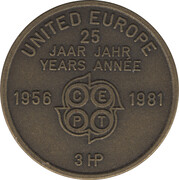 Token - United Europe - CEPT (The Netherlands) – reverse