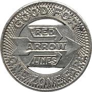 1 Zone Fare - Red Arrow Lines, P.S.T. Co. (Upper Darby, Pennsylvania) – reverse